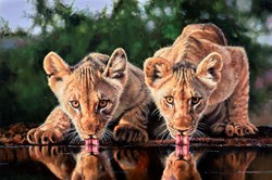 Double Trouble by Pip McGarry - Varnished Original Painting on Stretched Canvas sized 30x20 inches. Available from Whitewall Galleries